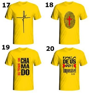 6994c190a kit c 5 camisetas gospel evangélica masculinas e femininas