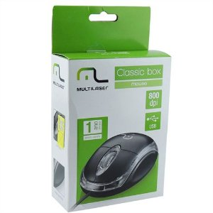 Mouse com fio Multilaser