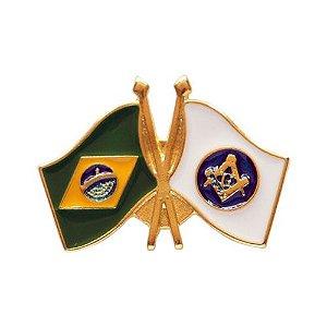 BT-049 - Pin Bandeira Brasil X Esquadro e Compasso
