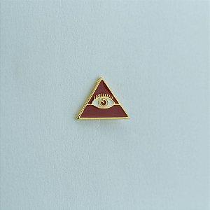 BT-054-V - Pin Triângulo Olho Vermelho