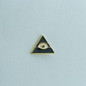 BT-054-P - Pin Triângulo Olho Preto