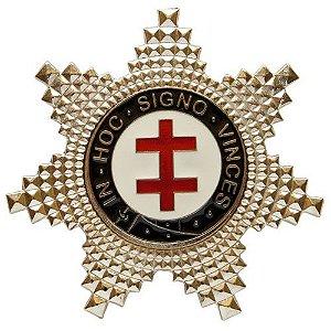 BT-078 - Pin Estrela de Preceptor Cavaleiro Templário