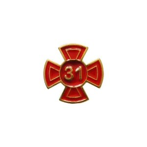 BT-095-V - Pin Grau 31 Vermelho