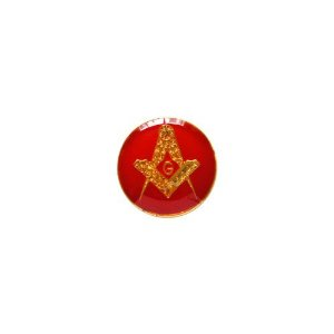 AP-016-V - Aplique Esquadro e Compasso Redondo Vermelho – 12 mm
