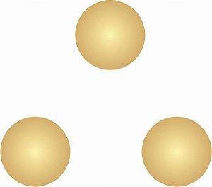 AP-023-D - Aplique 3 Pontos Dourado (Separados) - 18 mm cada