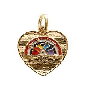 PI-016 - Pingente Coração Arco-Íris