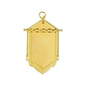 JO-031-D - Joia Porta Estandarte Dourado