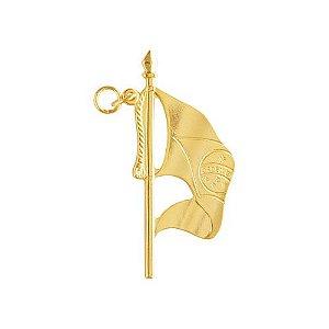 JO-033-D - Joia Porta Bandeira Dourado