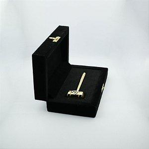 PR-001-D1 - Malhete Dourado com Esquado e Compasso - Com Estojo