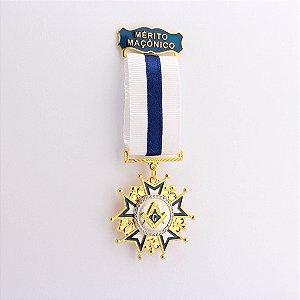 CO-007-A2 - Comenda Mérito Maçônico Azul - Sem Estojo