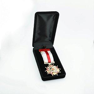 CO-007-V1 - Comenda Mérito Maçônico Vermelho - Com Estojo