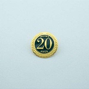 BT-273 - Pin Tempo de Maçonaria - 20 Anos