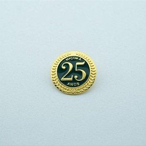 BT-274 - Pin Tempo de Maçonaria - 25 Anos