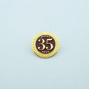BT-276 - Pin Tempo de Maçonaria - 35 Anos