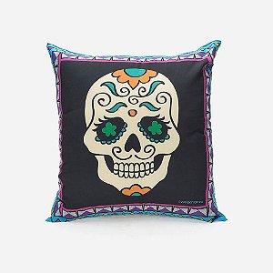Almofada Caveira Mexicana Color