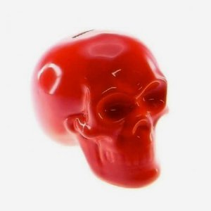 Cofre Decorativo Caveira Crânio Vermelho