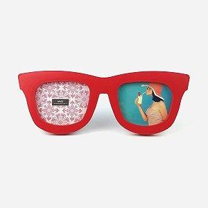 Porta Retrato Óculos Vermelho