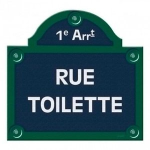 Placa Decorativa de Banheiro Paris