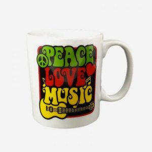 Caneca Peace Love Music