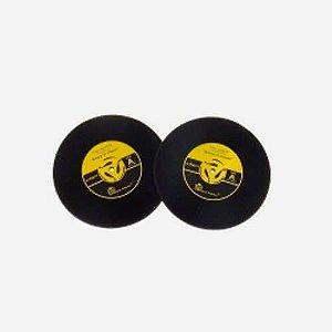 Porta Copos Disco de Vinil Amarelo