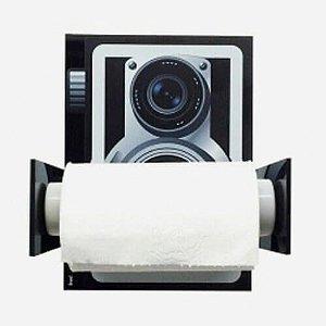 Porta Papel Higiênico Câmera Retro