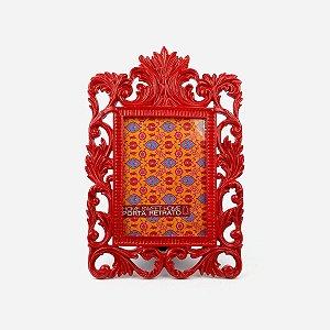 Porta Retrato Luiz XVI Vermelho