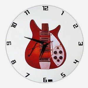 Relógio de Parede Guitarra Semi Acústica