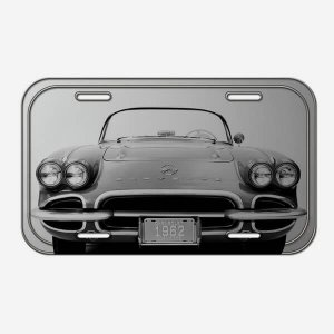 Placa Decorativa de Metal Corvette