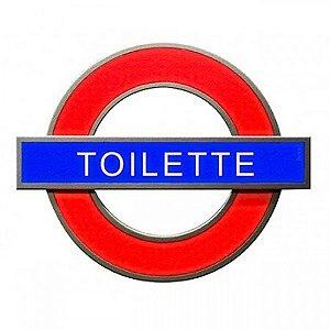 Placa Decorativa de Banheiro Londres