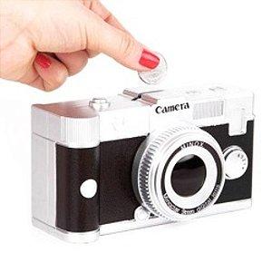 Cofre Decorativo Câmera Retro