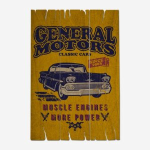 Placa Decorativa General Motors Classic Cars