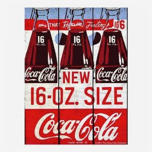 Placa Coca Cola Bottle Retro