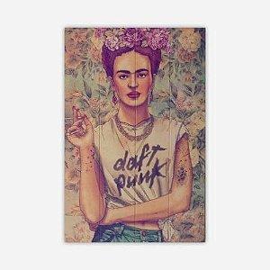 Quadro Frida Kahlo Daft Punk