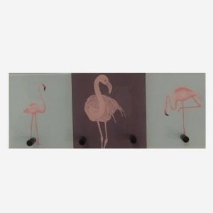 Cabideiro Flamingo Rosa