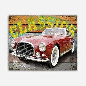 Quadro Carro Clássico Vermelho