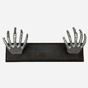 Cabideiro Mãos de Esqueleto Cromado