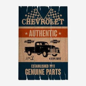 Placa Decorativa Chevrolet Authentic