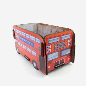Caixa Montável Ônibus London