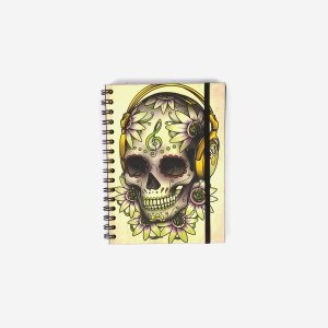 Caderno Caveira Headphone