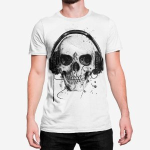Camiseta Masculina Skull Headphone