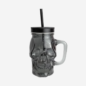 Copo Milk Shake Skull Preto