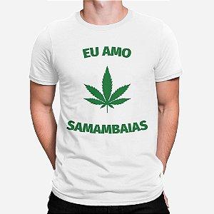 Camiseta Masculina Eu Amo Samambaias