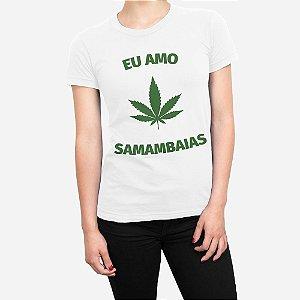 Camiseta Feminina Eu Amo Samambaias