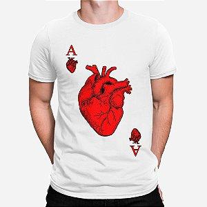 Camiseta Masculina Ás de Coração