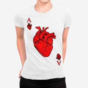 Camiseta Feminina Ás de Coração