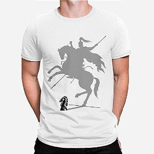 Camiseta Masculina Cavaleiro Xadrez
