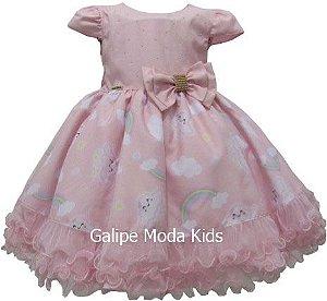02a929cdb68 Vestido Infantil Chuva de Amor - Galipe Moda Kids - Vestido para ...