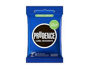 Preservativo Prudence Ultra Resistente com 3 unidades.