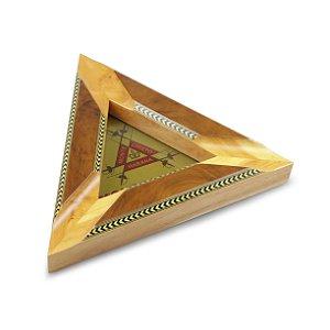 Cinzeiro para 3 Charutos de Madeira Triângulo - Montecristo