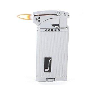 Isqueiro Jobon - Prata Mod. 3 (Maçarico e Chama Normal)